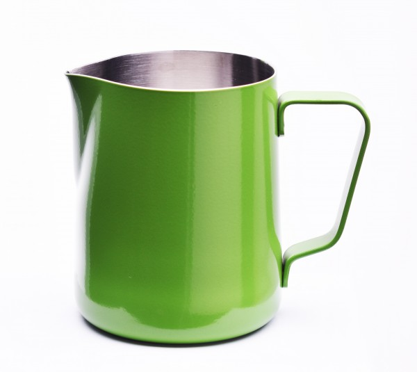 Milchkännchen mit Pulverbeschichtung Grün