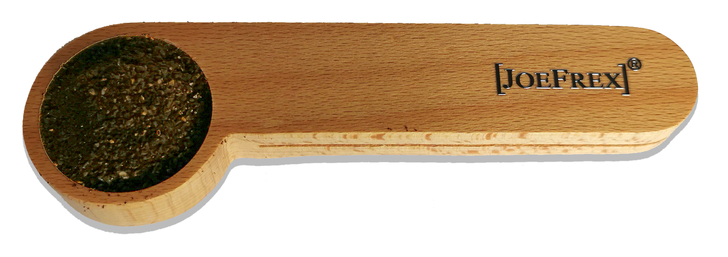 Kaffee Maßlöffel 7gr Holz mit Clip