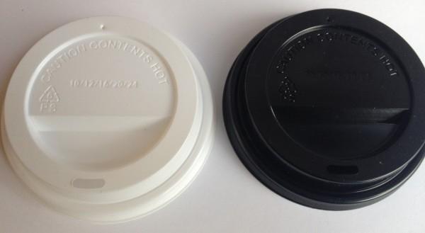 To Go Cup Deckel 90mm 1000 Stück schwarz oder weiß