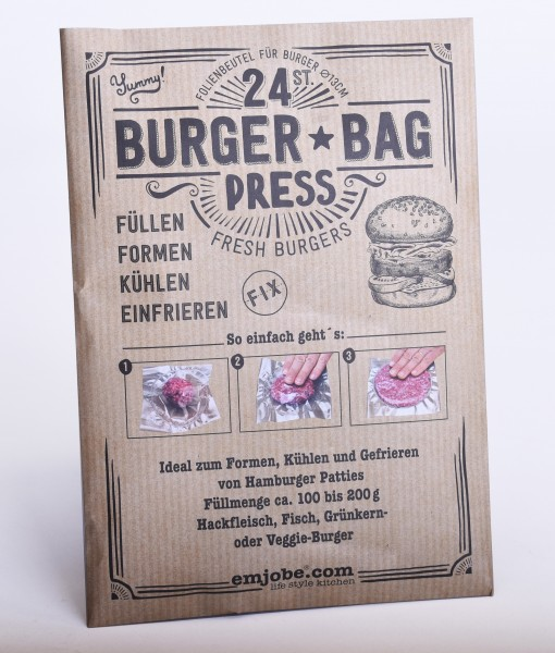 Burger Bag Press 24 Stk für Burger Patties