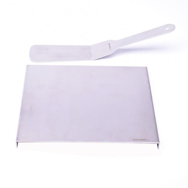 Grill Teppanyaki Platte mit Spachtel