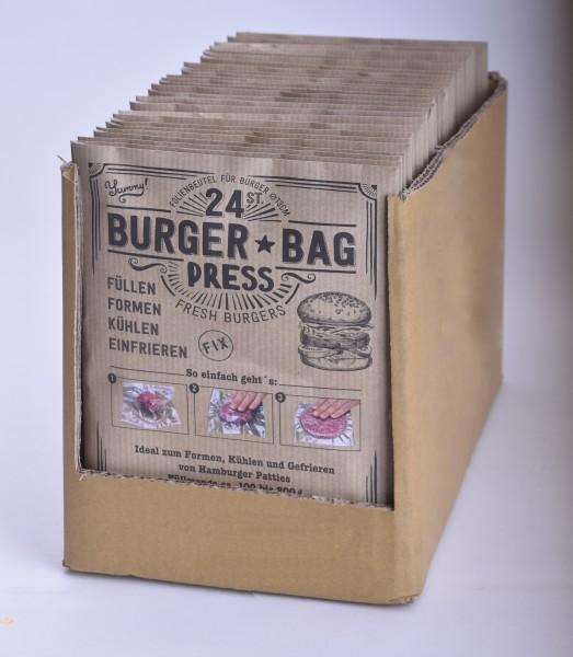 Karton 25 Stk Burger Bag Press 24 Stk für Burger Patties