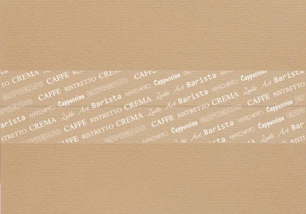 Klebeband mit Aufdruck Kaffee Thema ( 6 Stück Packung)
